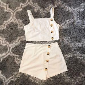 Other - White two piece outfit